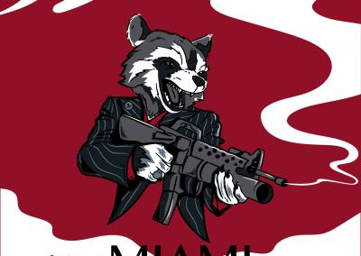 Scarface mapache