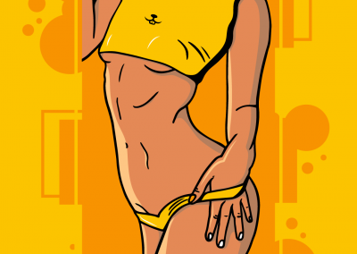 sexy lady yellow